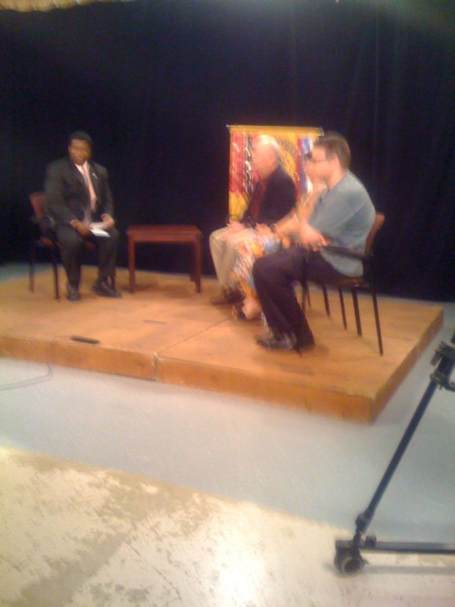 On the set at Comcast