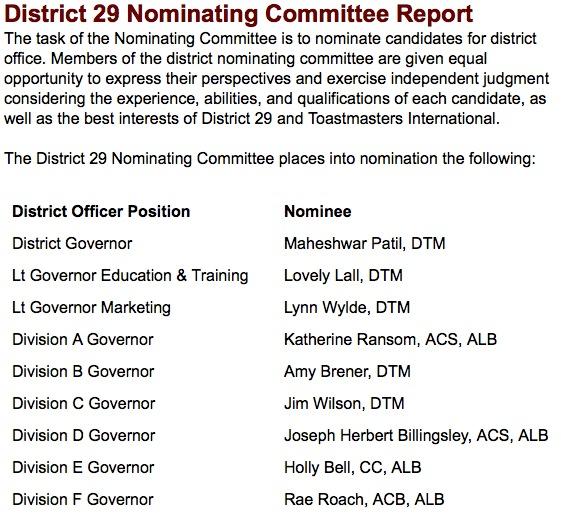 2014 Nominations