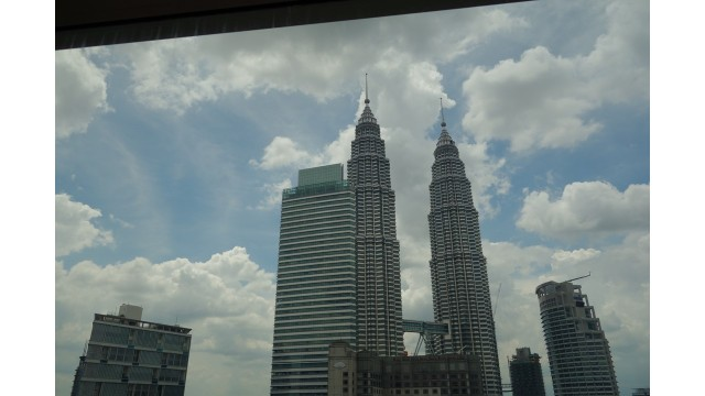 View from our window at Grand Hyatt KL